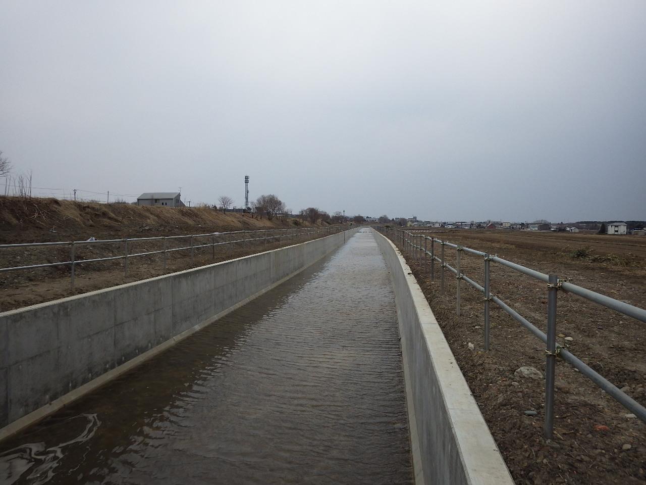 北海地区 北海幹線用水路由良水路橋下流工区工事