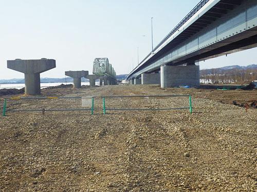 岩見沢月形線防災交付金300地方道(旧橋解体外)工事
