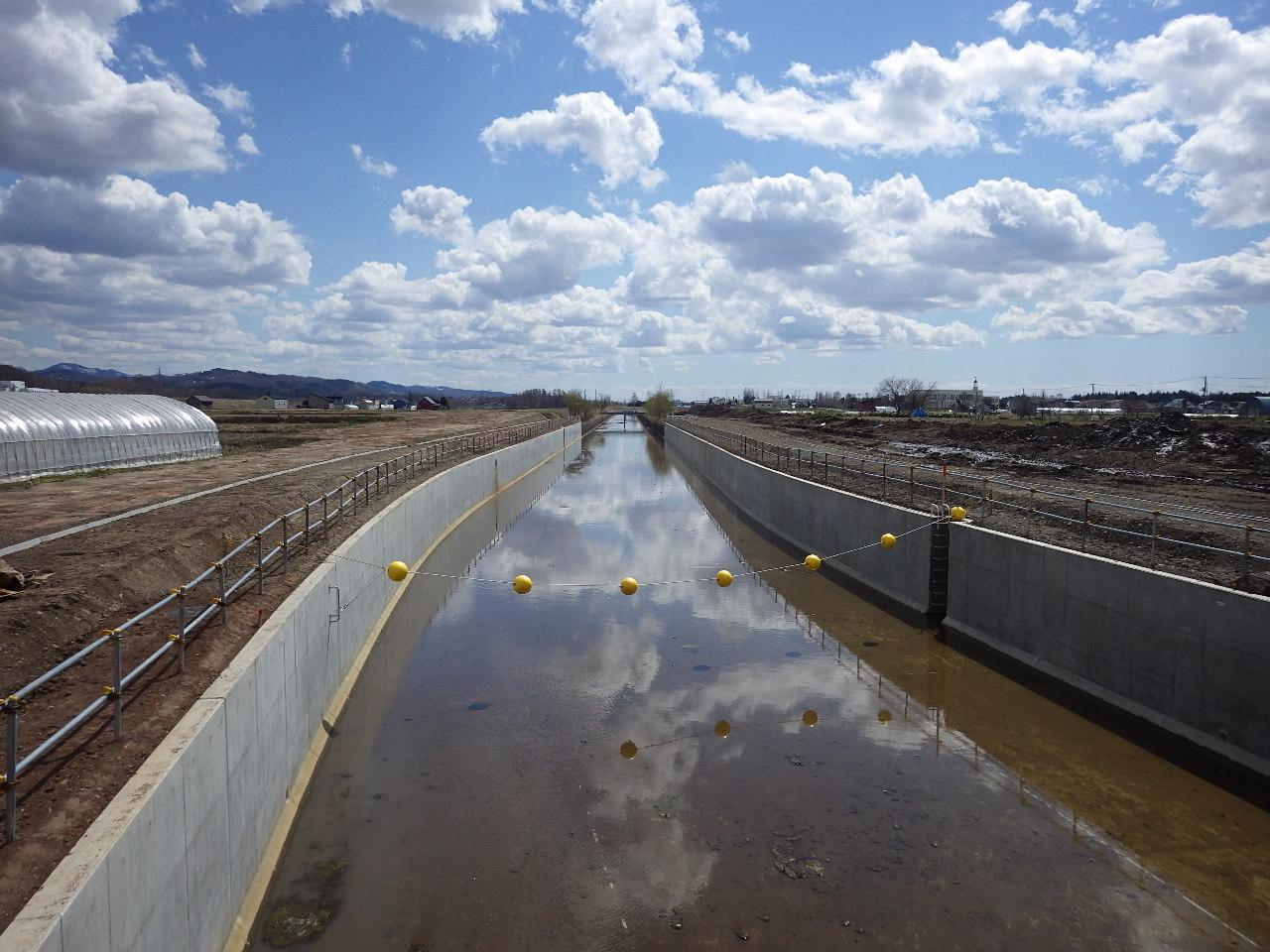 北海地区 北海幹線用水路北光2号橋下流工区工事