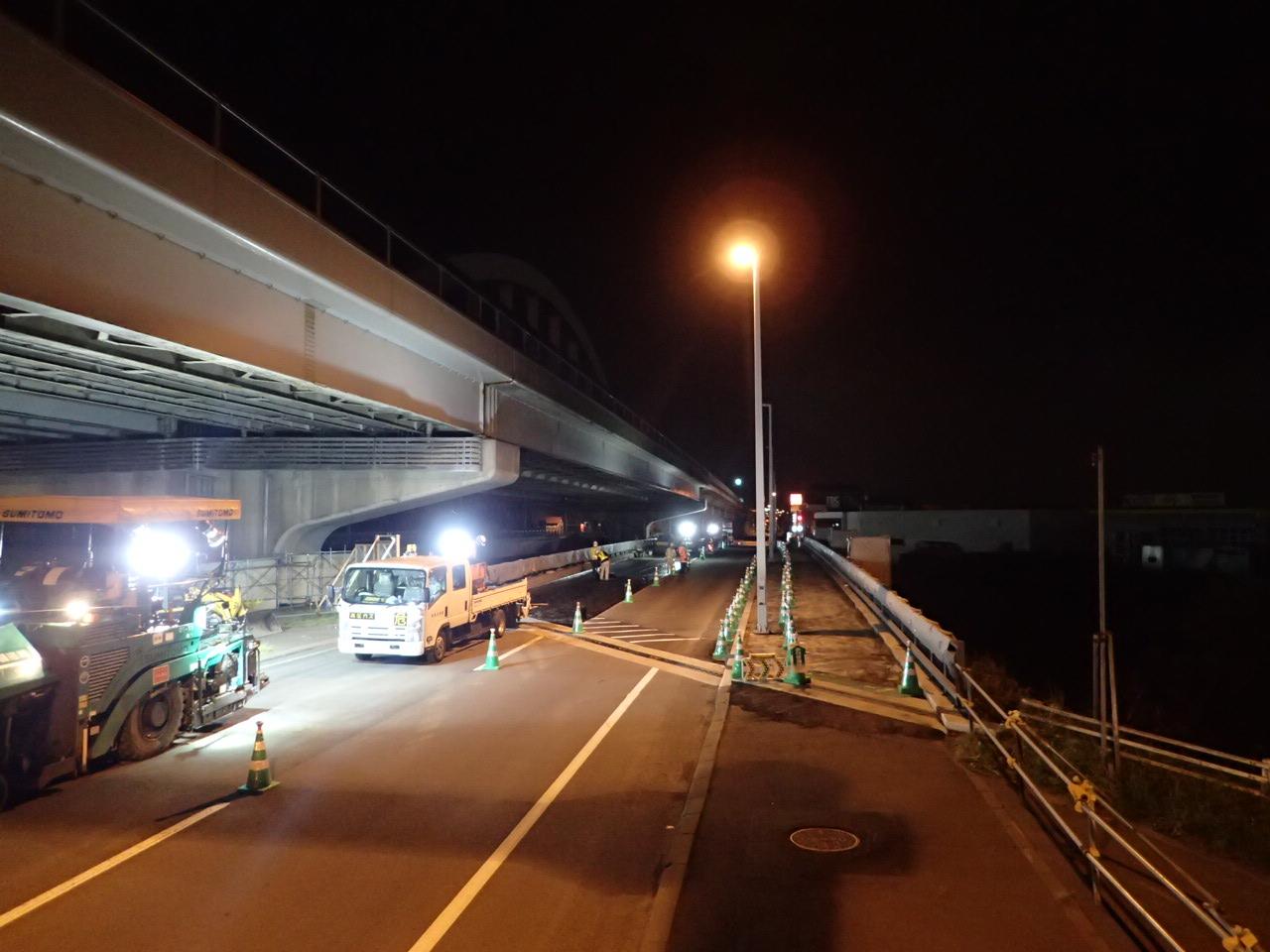 一般国道5号 札幌市 新発寒橋補修外一連工事