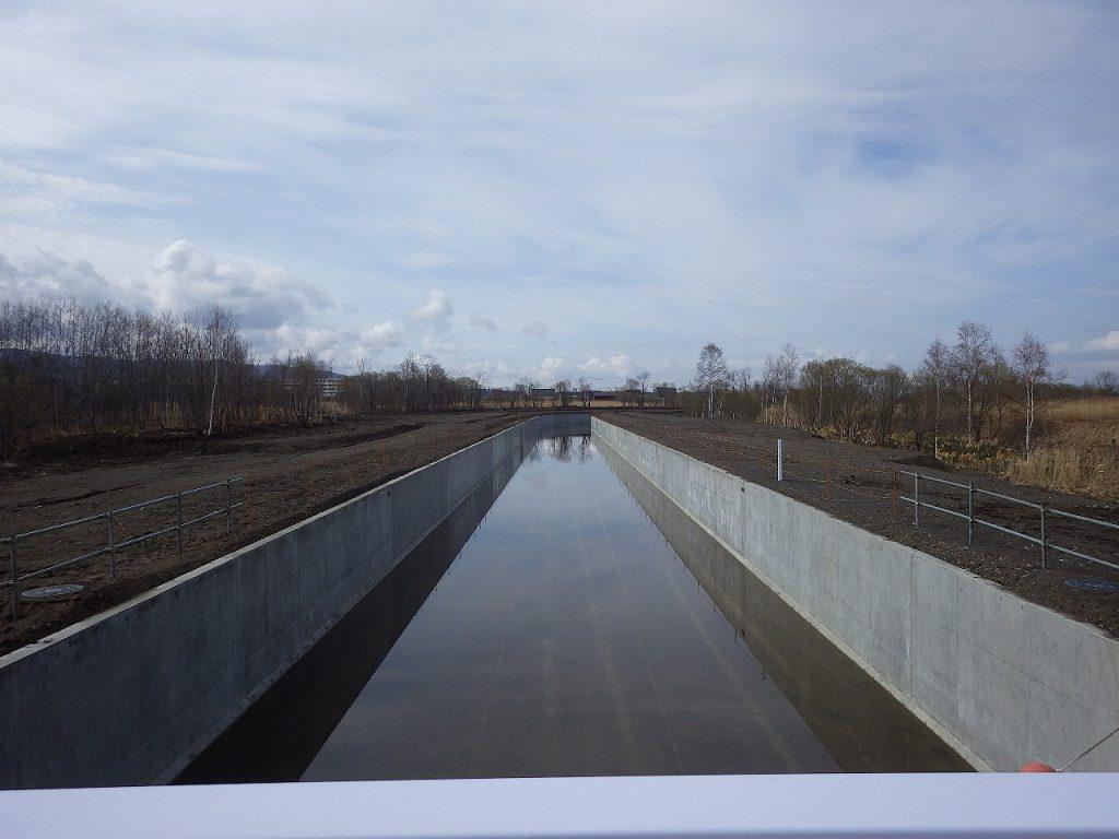 北海地区 北海幹線用水路屯田橋上流工区工事