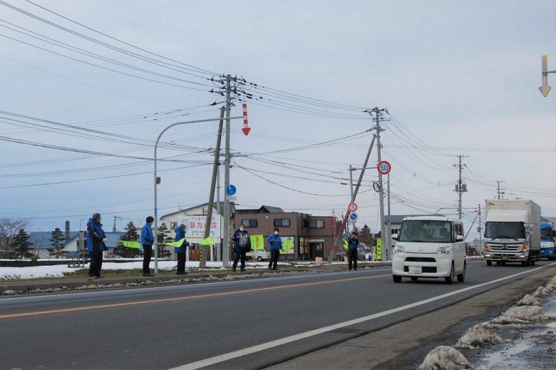 冬の交通安全運動街頭啓発