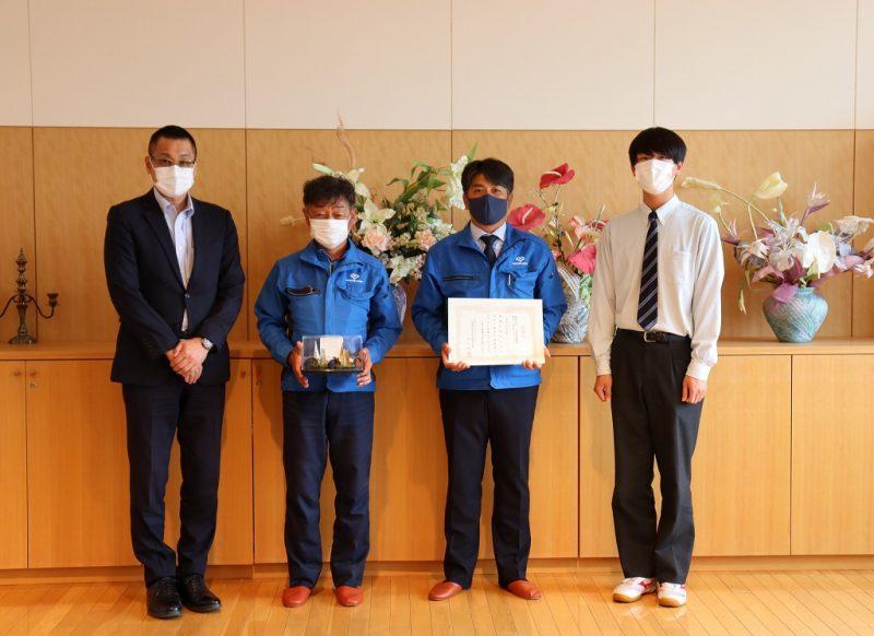 美唄尚栄高校様から感謝状を頂きました!