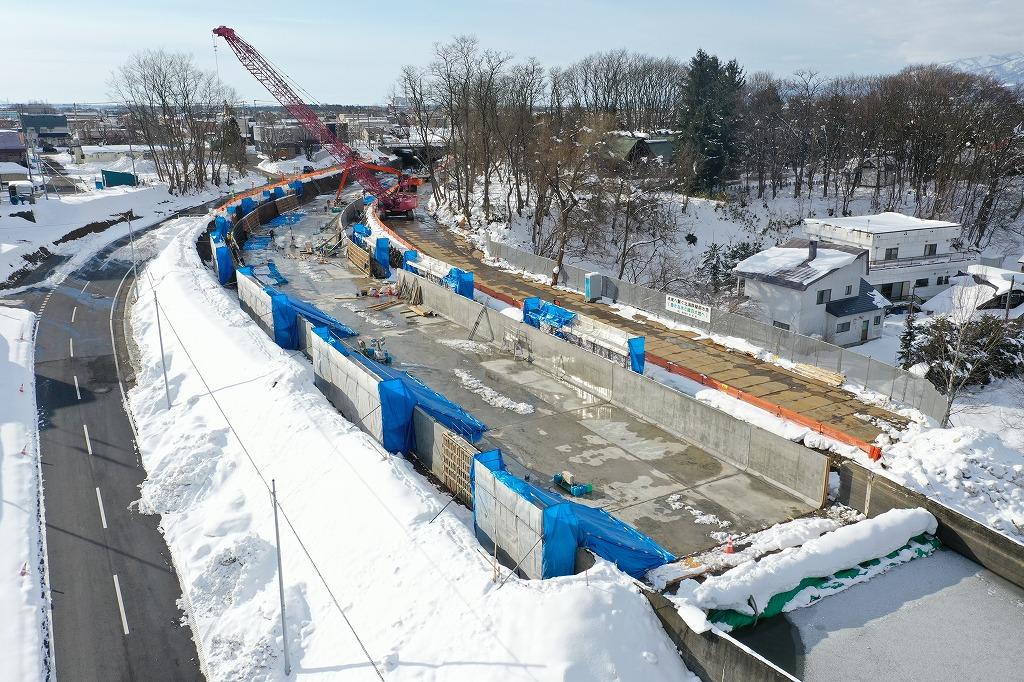 北海地区 北海幹線用水路パンケ水路橋下流工区工事