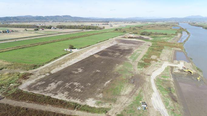 ⑪新篠津築堤河道掘削外工事 「土砂運搬完了」